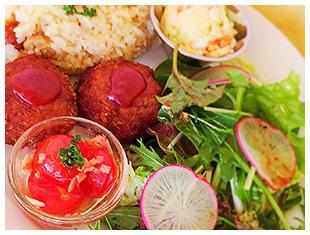 ママズカフェの野菜たっぷり日替わりランチ